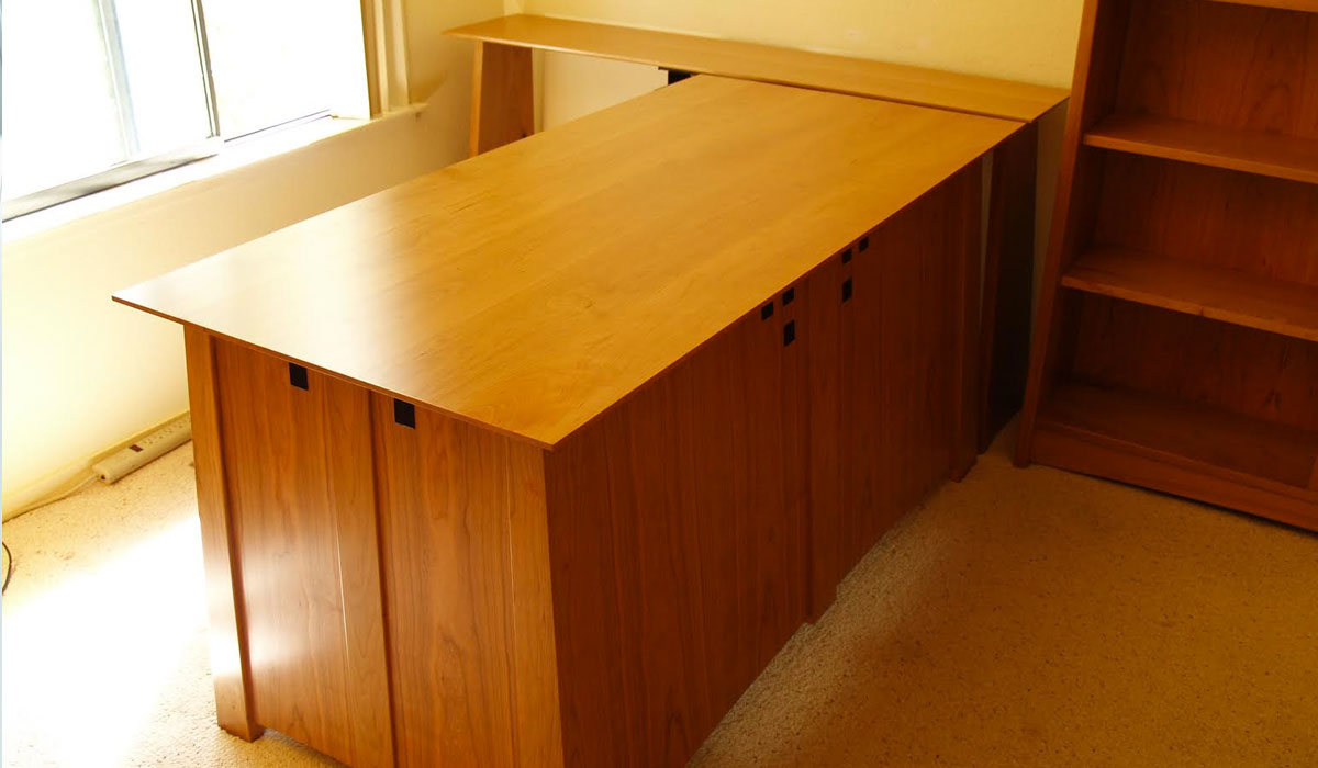 Farber desk and guitar cabinet